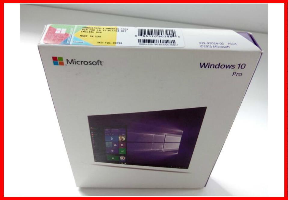 Microsoft Software Windows 10 Pro Retail Box Pro Pack