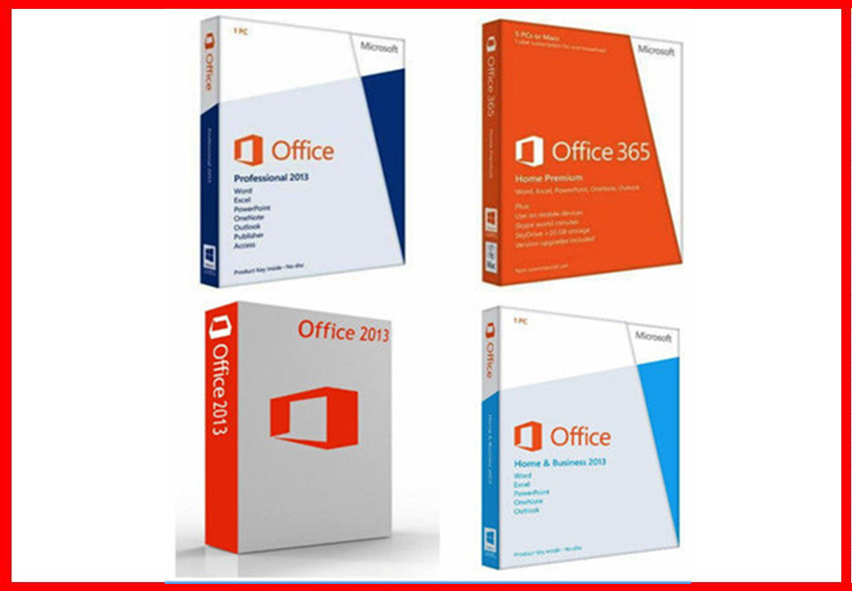 Original Microsoft Office 2013 Pro plus Retailbox key card +DVD ...