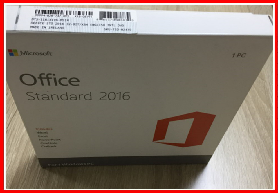 100% Activation Microsoft Office 2016 Professional Retail Standard With DVD Media