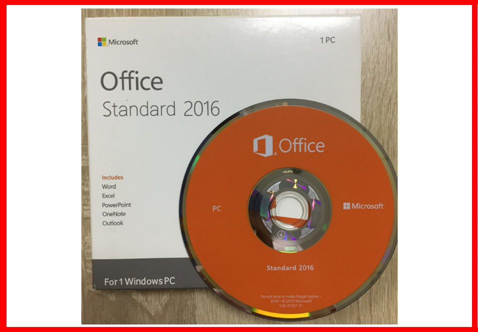 Genuine Microsoft Office 2016 Professional Retailbox DVD + Key card
