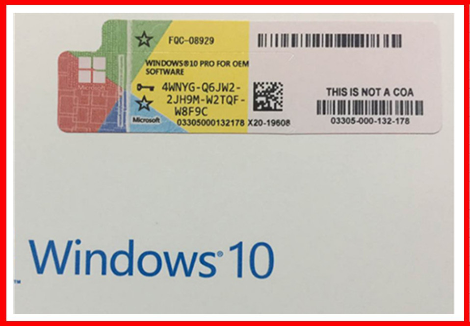 Win10 Pro Genuine OEM Key 32 Bit 64 Bit Win 10 Professional COA Key Sticker