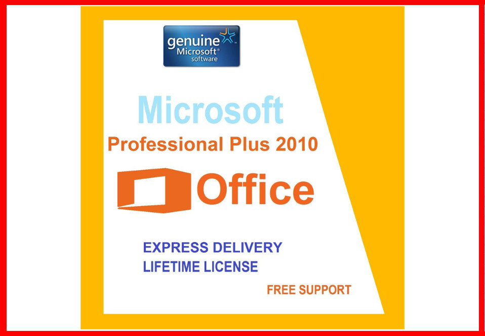 Microsoft office professional plus 2010  Retailbox Geniune product key activation Guaranteed 100% genuine