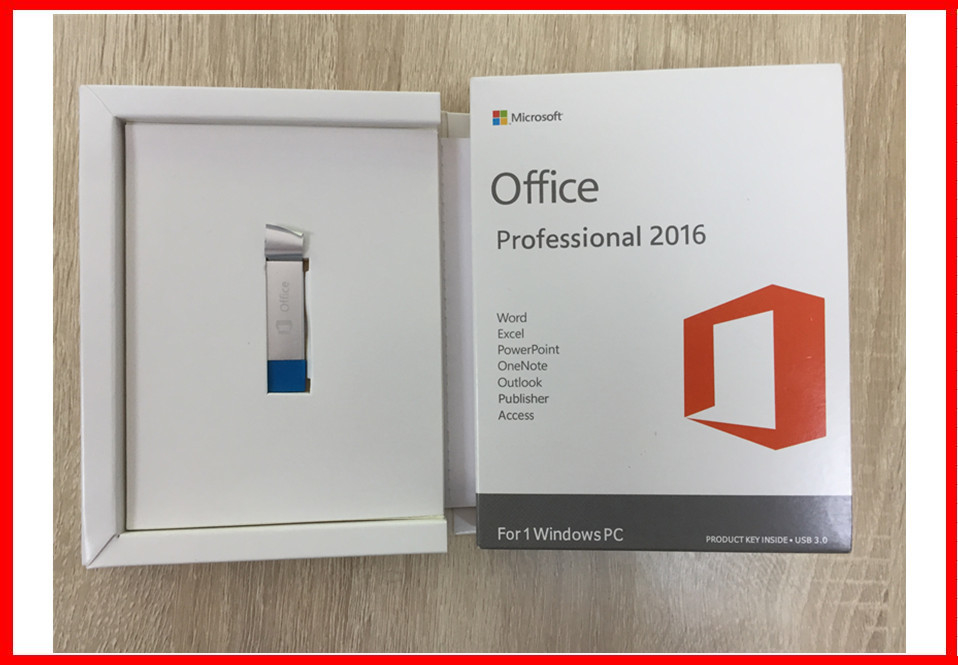 English Microsoft Office 2016 Professional Retail Product Key With USB 3.0