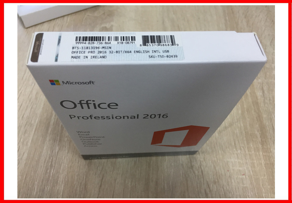 Microsoft Office 2016 Pro Plus Retail Box Genuine Key Card With 3.0 Usb No Language Limitation