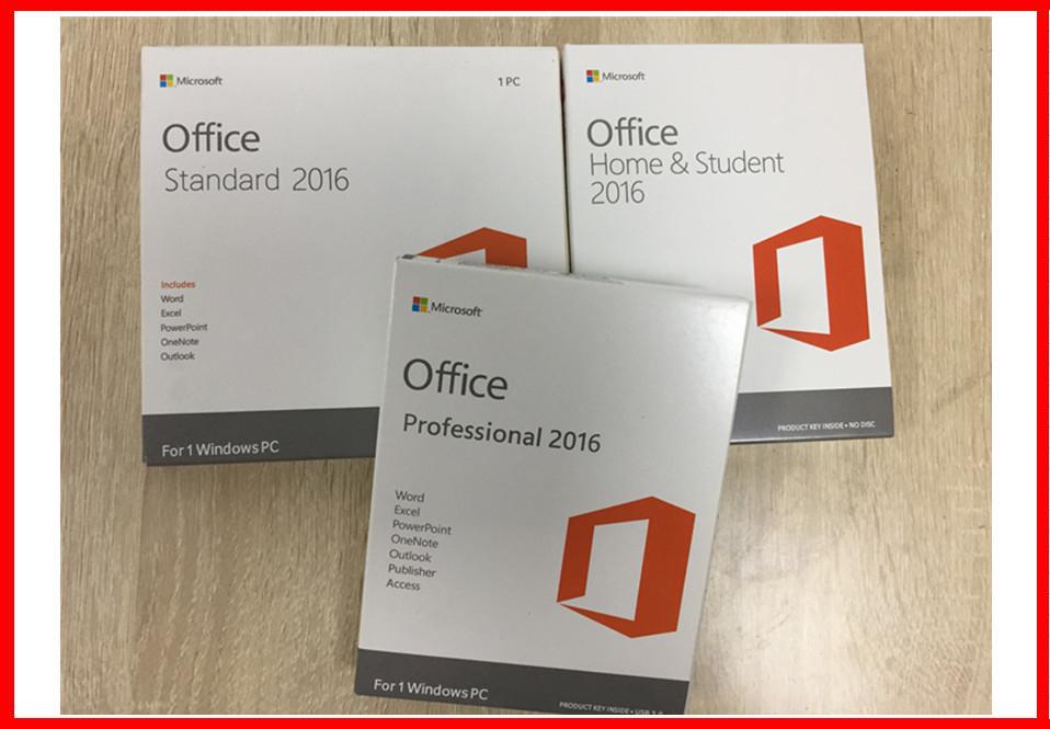 100% Genuine Key 3.0 Usb 2 GB RAM Microsoft Office 2016 Professional Retail
