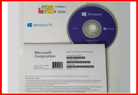 Microsoft Software Operating System Windows 10 Product Key Code , COA License Sticker