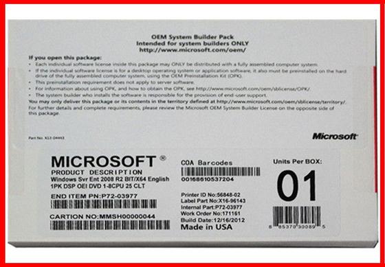 Windows sever 2008 r2enterprise25cals DVD  64bit english version lifetime guarantee