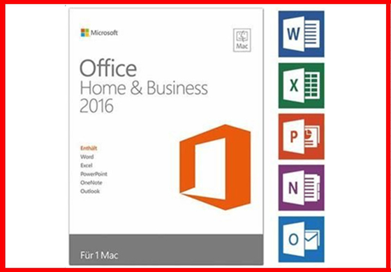 Online Activation Microsoft Office 2016 Professional Retail  For MAC Retail Box 32 / 64 Bit