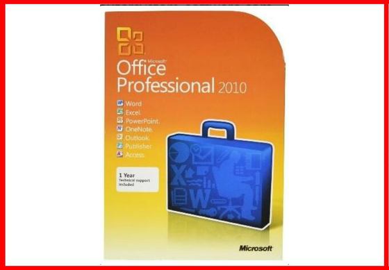 Full version Mmicrosoft office professional 2010 Retail Box office computer software