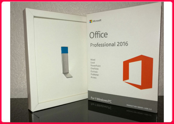 Microsoft Office Professional Plus 2016  Retail Pack With 3.0 Usb Flash Drive 32/64 Bit For Windows