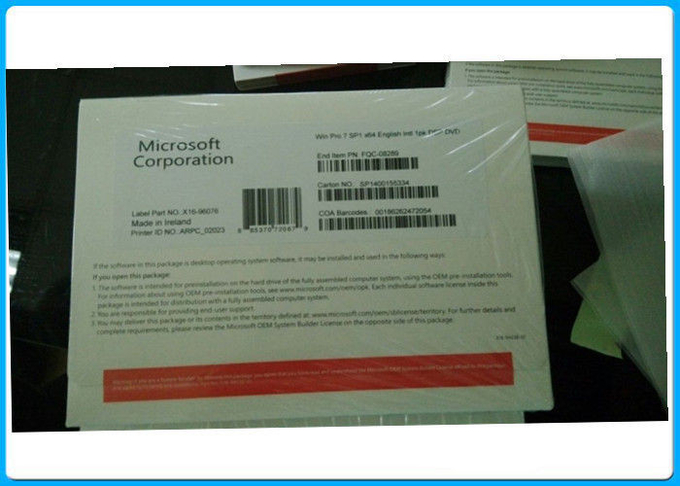 English Language Windows 7 Professional Full Package Product Key with DVD OEM BOX