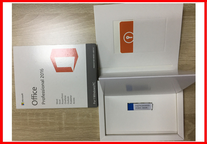 Genuine Microsoft Office 2016 Professional Plus Original COA Sticker + USB 3.0