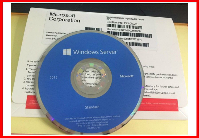 International Microsoft Window Server 2016 Standard OEM PACK Full Version